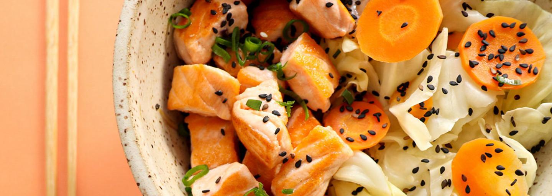 Piatto di salmone e finocchi