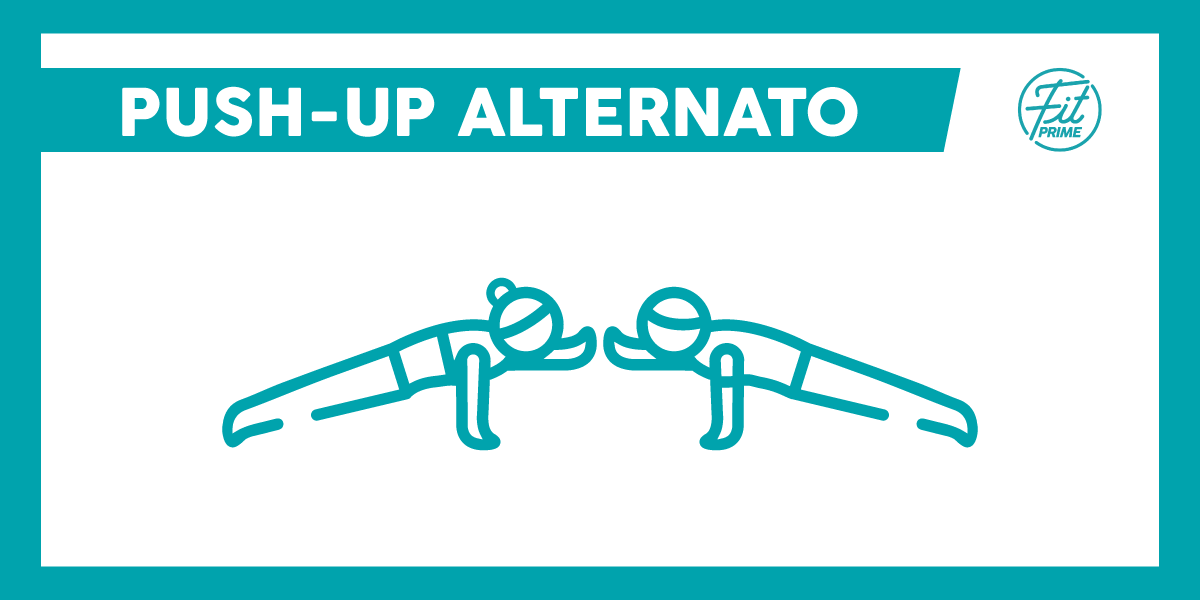 push up alternato