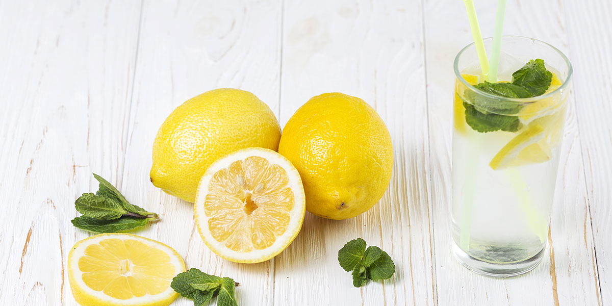 Acqua aromatizzata al limone